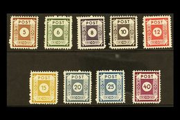 RUSSIAN ZONE EAST SAXONY 1945 COSWIG Local Postmaster's Perf 11½ Complete Set, Michel 42/50 D III, Never Hinged Mint, 5p - Germany