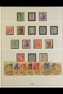 RUSSIAN ZONE BERLIN AND BRANDENBURG 1945 Mint And Used Collection On Album Pages. Includes 8pf Imperf Mint, Zig-zag Roul - Germany