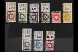 RUSSIAN ZONE EAST SAXONY 1945 COSWIG Postmaster Provisional Perf 11½ Complete Set, Michel 42/50 D III, Never Hinged Mint - Germany