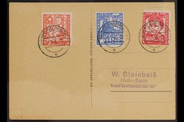 RUSSIAN ZONE MECKLENBURG-VORPOMMERN 1945 Child Welfare Complete Set (Michel 26/28, SG RB19/21), Very Fine Used On Pictur - Germany