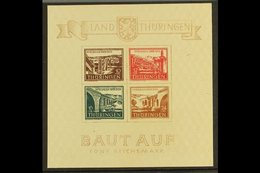 SOVIET ZONE (THURINGEN) 1946 (30 March) Rebuilding Miniature Sheet, Economy Gum On Type Y Paper, Mi Block 4 B Y I, Never - Germany