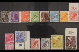 "1949 ""BERLIN"" Overprints In Red Complete Set (Michel 21/34, SG B21/34), Never Hinged Mint, 1m Small Gum Disturbance, Ver - [5] Berlin"