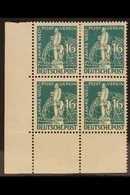 1949 16pf Blue Green, Mi 36, Mint Corner Block Of 4, The Two Lower Stamps Being Never Hinged (4 Stamps) For More Images, - [5] Berlin