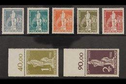 1949 UPU Complete Set (Michel 35/41, SG B54/60), Never Hinged Mint, A Few Values With Tiny Gum Disturbances, Very Fresh, - [5] Berlin