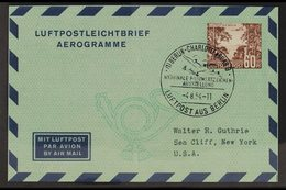 1954 60pf Brown Aerogramme, Mi LF6, Philatelic Use With Special Cancel. For More Images, Please Visit Http://www.sandafa - [5] Berlin
