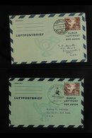 AEROGRAMMES 1952-1954 COLLECTION (of Michel LF3/LF6) Of 60pf Brown Aerogramme On A Stock Page, Very Fine Used, Inc 1952 - [5] Berlin