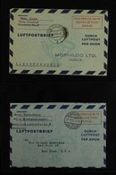 AEROGRAMMES 1948-1949 COLLECTION Of LF1 & LF2 Examples On Stock Pages, Very Fine Used, Inc 1948 (Mi LF 1) 100pf Type II, - [5] Berlin