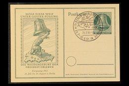 POST STATIONERY POSTCARDS 1950 8pf & 10pf Centenary (Michel P 10/11), 1951 10pf 'Europa-Zuges' (Michel P 25), 1951 10pf  - [5] Berlin