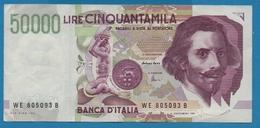 ITALIA 50000 Lire Bernini27.05.1992Serial WE 805093B P# 116c - [ 2] 1946-… : République