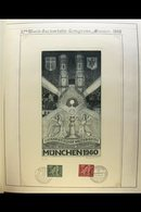 1960 World Eucharistic Congress Munich, Lovely Engraved SUNKEN DIE PROOF Of A Congress Label Showing Munich Cathedral An - [6] Democratic Republic
