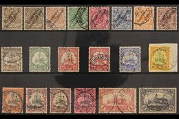 """GERMAN NEW GUINEA 1897-1908 USED COLLECTION Presented On A Stock Card That Includes 1897-1899 """"Deutsch-Neu-Guinea"""" Overp - Germany"""