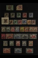 GERMAN SOUTHWEST AFRICA 1892-1919 FINE USED COLLECTION Presented On A Stock Page That Includes 1892 3pf Brown Tied To A  - Germany