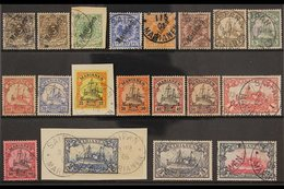 """MARIANAS ISLANDS 1900-1901 FINE USED COLLECTION Presented On A Stock Card That Includes 1900 """"Marianen"""" Overprinted 3pf  - Germany"""
