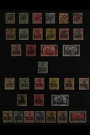 """POST OFFICES IN MOROCCO 1899-1919FINE USED COLLECTION Presented On Stock Pages, ALL DIFFERENT & Includes 1899 Empire """"Ma - Germany"""