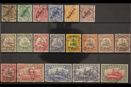 """SAMOA 1900-1901 USED COLLECTION Presented On A Stock Card That Includes The 1900-1901 """"Samoa"""" Overprinted Set (Mi 1/6) & - Germany"""
