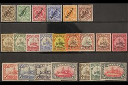 """SAMOA 1900-1919 COMPREHENSIVE MINT COLLECTION Presented On A Stock Card That Includes The 1900-1901 """"Samoa"""" Overprinted  - Germany"""