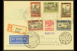 1932 GRAF ZEPPELIN DANZIG FLIGHT (LUPOSTA) (29 July) Special Registered Picture Postcard Addressed To Germany, Bearing 1 - Danzig