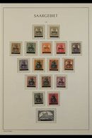"""1920-1934 ALL DIFFERENT MINT COLLECTION CAT €1750+ Presented On A Full Set Of """"Lighthouse"""" Hingeless Pages. We See The 1 - Saar"""