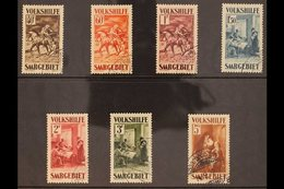 1931 (23 Dec) Christmas Charity Complete Set (Mi 151/57, SG 150/56), Very Fine Used. (7 Stamps) For More Images, Please  - Saar