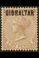 1886 2d Purple Brown, SG 3, Very Fine Mint For More Images, Please Visit Http://www.sandafayre.com/itemdetails.aspx?s=62 - Gibraltar
