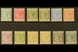 1889-96 Spanish Currency QV Set, SG 22/33, Fine Mint (12 Stamps) For More Images, Please Visit Http://www.sandafayre.com - Gibraltar