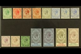 1921-27 KGV Multi Script CA Wmk Set With ALL Listed Shade Variants, SG 89/101, Fine Mint (15 Stamps) For More Images, Pl - Gibraltar