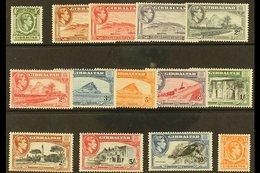 1938-51 Complete King George VI Definitive Set, SG 121/131, Very Fine Mint. (14 Stamps) For More Images, Please Visit Ht - Gibraltar