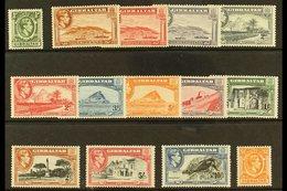 1938-51 Complete Definitive Set, SG 121/131, Very Fine Mint. (14 Stamps) For More Images, Please Visit Http://www.sandaf - Gibraltar