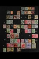 1854-1955 OLD TIME COLLECTION Presented On Album Pages, Mint & Used, Includes (all Used) 1854-55 ½a, 1a & 4a Cut To Shap - India