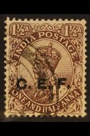 1914-22. CHINA EXPEDITIONARY FORCE KGV 1½a Chocolate (Type A), SG C26, Fine Cds Used. For More Images, Please Visit Http - India