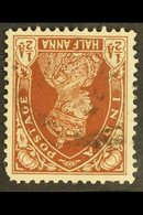 1937-40 ½a Red-brown WATERMARK INVERTED Variety, SG 248w, Used, A Few Short Perfs, Cat £250. For More Images, Please Vis - India
