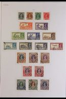 """1937-52 COLLECTION OF USED SETS Presented On Album Pages That Includes The 1937-40 Pictorial Set (SG 247/64), 1940-43 """"W - India"""
