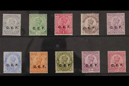 CHINESE EXPEDITIONARY FORCE 1914-22 KGV Set To 12a, SG C23/33, Very Fine Mint. (10 Stamps) For More Images, Please Visit - India