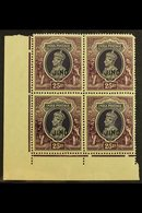 JIND 1941-43 25r Slate-violet & Purple, SG 136, Never Hinged Mint Corner Block Of 4, Usual Light Tone For More Images, P - India