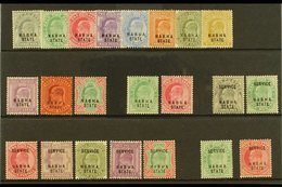 """NABHA 1903-09 COMPLETE """"BASIC"""" MINT KEVII COLLECTION On A Stock Card. Includes 1903-09 Set, 1907 Set, Officials 1903-06  - India"""