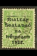 1922 Thom Wide Setting ½d Green, Showing Guide Blocks (Hib. T43a), Fine Cds Used, Scarce ! For More Images, Please Visit - Ireland