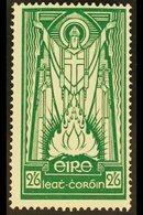 1937 2s6d Emerald- Green St Patrick, SG 102, Never Hinged Mint. For More Images, Please Visit Http://www.sandafayre.com/ - Ireland