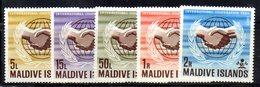 APR2166 - MALDIVE 1964 , Serie  Yvert N. 167/171  ***  MNH  (2380A) . - Maldive (1965-...)