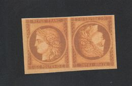 Reproduction N° 1 10 C Cérès Tête-bêche Nsg - 1849-1850 Cérès