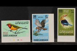 1964 Birds Airmail Set, IMPERF, SG 627/9, Superb Never Hinged Mint. (3 Stamps) For More Images, Please Visit Http://www. - Jordan