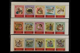 1976 Surcharges On 'Tragedy Of The Refugees' And 'Tragedy In The Holy Lands' Complete Sets, SG 1137/66 & 1167/96, Superb - Jordan