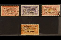 1924 Air Stamps Of France Surcharged, SG 22/5 (Type I), Very Fine Used. (4 Stamps) For More Images, Please Visit Http:// - Lebanon