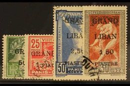 1924 Olympic Games Set Surcharged, SG 18/21, Fine Used. (4 Stamps) For More Images, Please Visit Http://www.sandafayre.c - Lebanon
