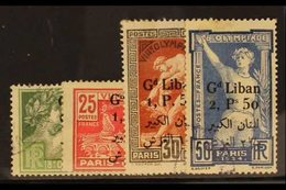 1924 Olympic Games Set Surcharged Bi-lingually, SG 49/52, 49/52, Very Fine Used. (4 Stamps) For More Images, Please Visi - Lebanon