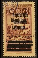"""1928 10p Plum, Tripoli, Variety """"entire Overprint Double"""", SG 134b, Very Fine Used. For More Images, Please Visit Http:/ - Lebanon"""