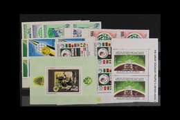 1980's-2009 NEVER HINGED MINT RANGES On Pages & Stock Cards, Mostly All Different, Includes Many Se-tenant Strips/blocks - Libya