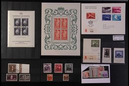 1912-2000's MINT, NHM & USED ASSEMBLY On Stock Cards With Many Better Items, Includes 1912 25h Used, 1921 30rp Used, 192 - Liechtenstein