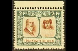 1930 2f Red-brown & Deep Bluish Green Prince And Princess Perf 11½ (Michel 107 B, SG 109B), Superb Never Hinged Mint Upp - Liechtenstein