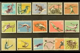 1955-58 SPORTS SETS Complete, Michel 334/337, 342/345, 353/356, And 365/368, Never Hinged Mint. (16 Stamps) For More Ima - Liechtenstein
