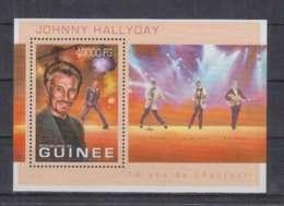 V280. Guinee - MNH - 2013 - Famous People - Johnny Hallyday - Bl - Célébrités
